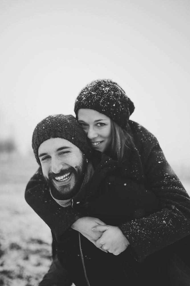 servizio fotografico con la neve treviso